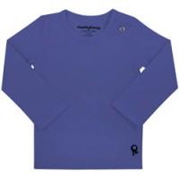 blauwe baby t shirt met lange mouw