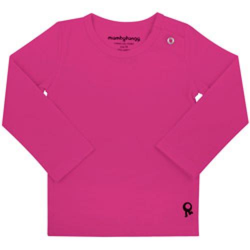 Mambo Tango-fuchsia baby t shirt met lange mouw-fuchsia 86/92-4345