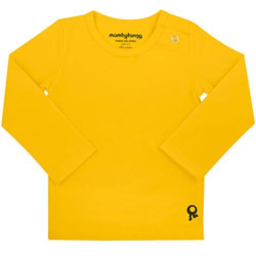 Mambo Tango-gele baby t shirt met lange mouw-geel 50/56-4347