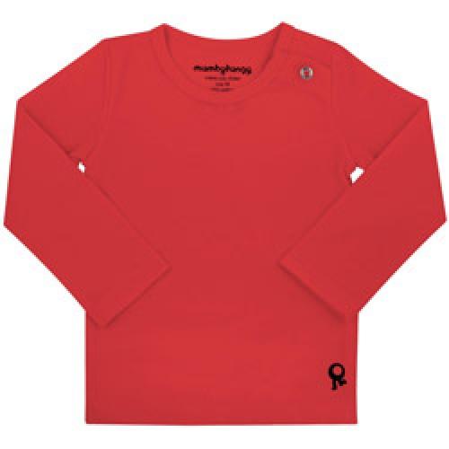 Mambo Tango-rode baby t shirt met lange mouw-rood 80-4326