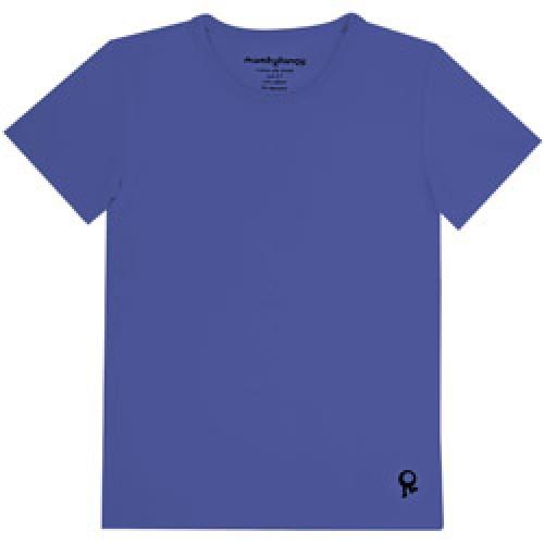 Mambo Tango-blauwe kids t shirt met korte mouw-blauw 2 jaar-4529