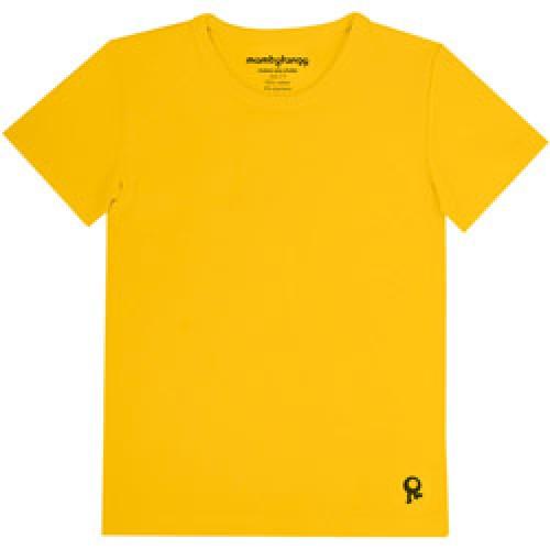 Mambo Tango-gele kids t shirt met korte mouw-geel 10 jaar-4546