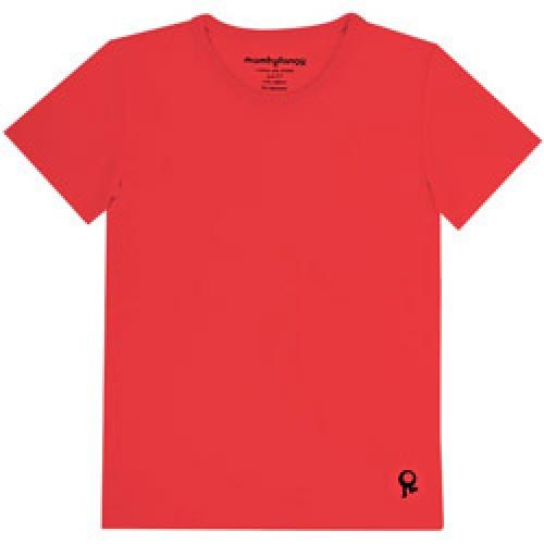 Mambo Tango-rode kids t shirt met korte mouw-rood 4 jaar-4519