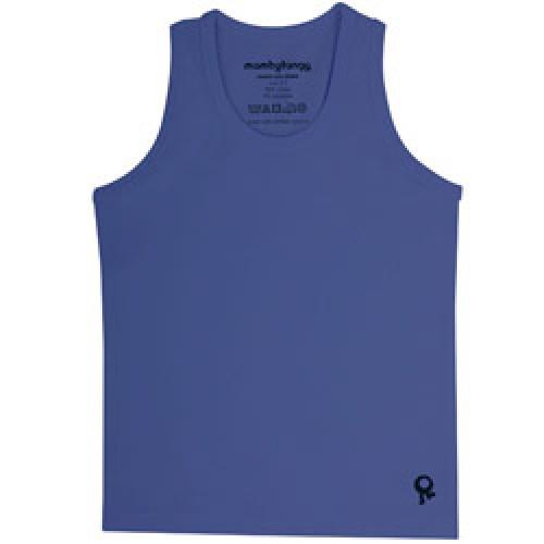 Mambo Tango-blauwe kids t shirt zonder mouw-blauw 6 jaar-4508