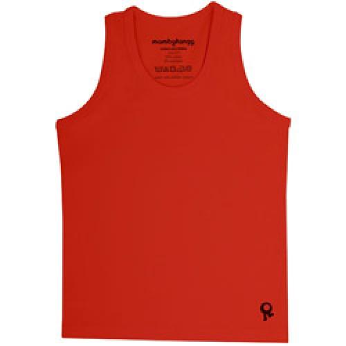 Mambo Tango-rode kids t shirt zonder mouw-rood 2 jaar-4493