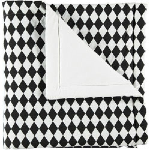 Nobodinoz-plaid Copenhagen small 100 x 145-diamant zwart small-8076