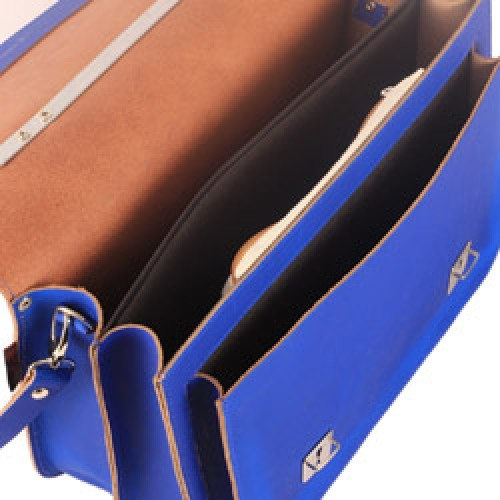 962bdb78508 ... Own Stuff-UITVERKOCHT grote hippe lederen schooltas-cobalt blauw-5721  ...