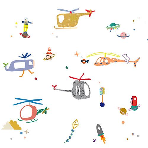 Mimi'lou-muursticker air traffic-air traffic-10070
