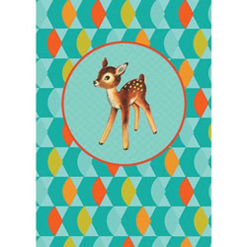 Froy en Dind-postkaart kers op de kaart-bambi vintage 108-8705