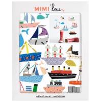 mini muursticker boten