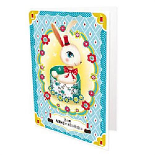 La Marelle Editions-dubbele postkaart Peggy Nille-bon anniversaire-5503