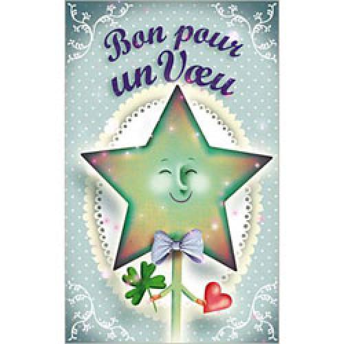 La Marelle Editions-kleine wenskaart la marelle-bon pour un voeu-3433