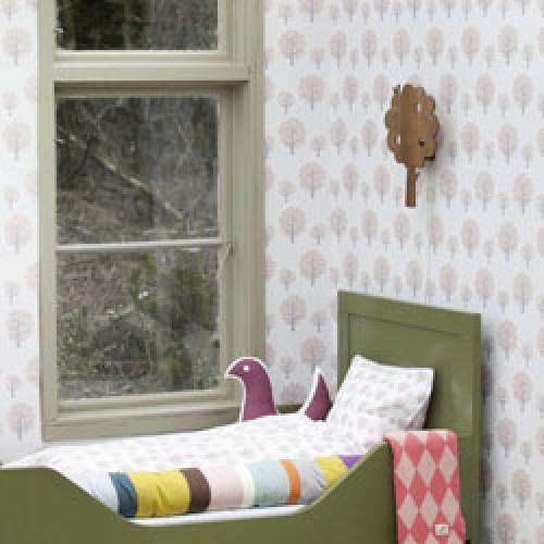 Ferm Living-deens behangpapier-dotty rose-3284