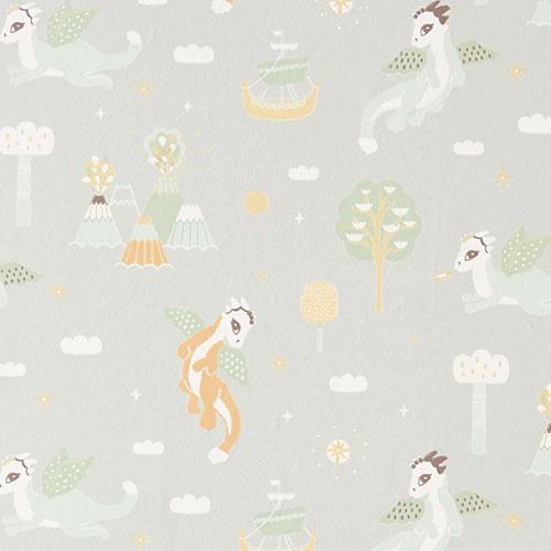 Majvillan-origineel zweeds behangpapier-magical adventure soft grey-10130