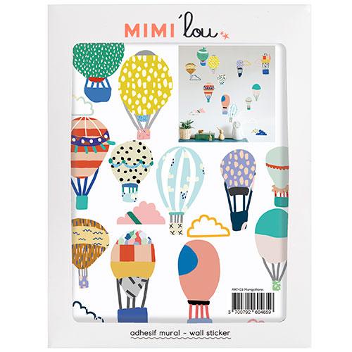 Mimi'lou-mini muursticker luchtbalonnen-montgolfières-10074