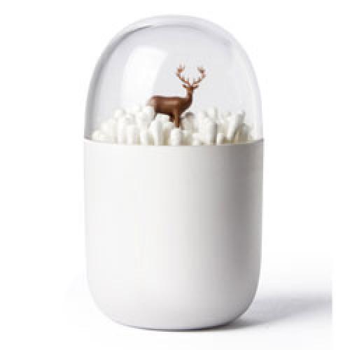 Qualy-originele wattenstaafjes houder deer-reindeer-9254