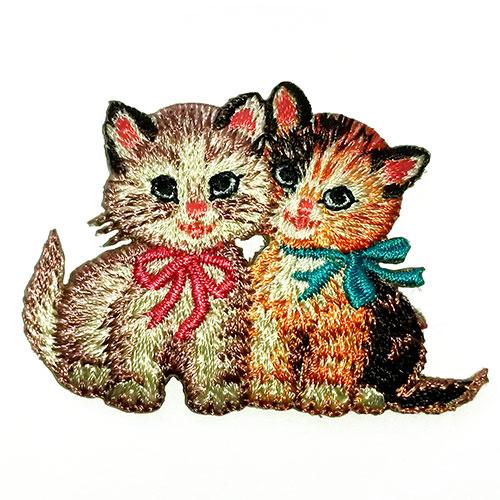 RJB Stone-retro kittens strijkapplicatie-retro kittens-10106