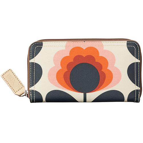 d069f20a693fb Orla Kiely-summer flower big zip wallet-summer flower sunset-9828