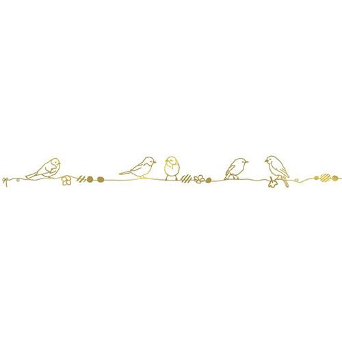 Mimi'lou-muursticker fries perles et oiseaux goud-vogeltjes goud-10066